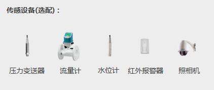 水源井远程监控系统配图传感设备:压力变送器、流量计、水位计、红外报警器、照相机
